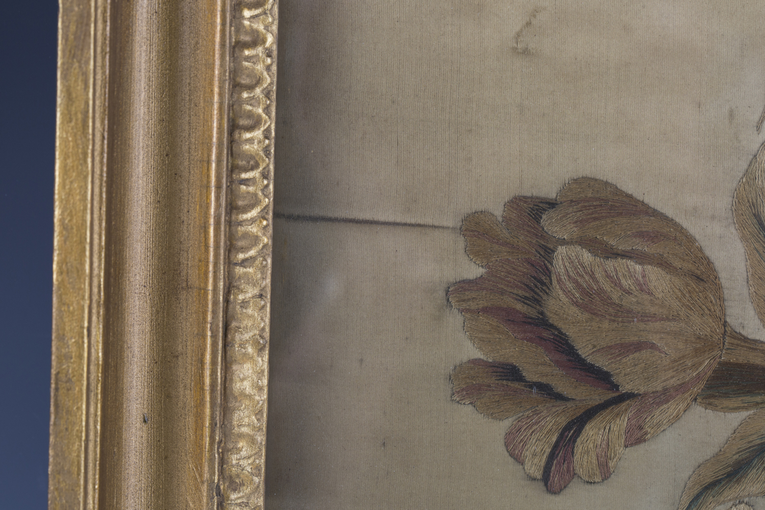 A near pair of late 19th century Japanese silk and metal thread stumpwork panels, both depicting - Image 6 of 31