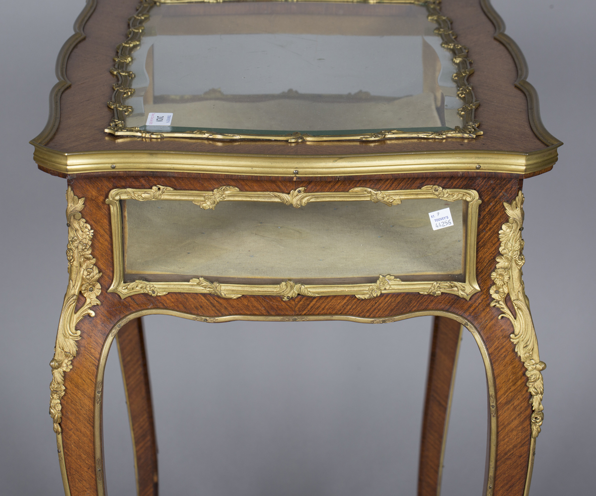 A good late 19th century Louis XV style kingwood bijouterie table with applied ormolu mounts, the - Image 5 of 9