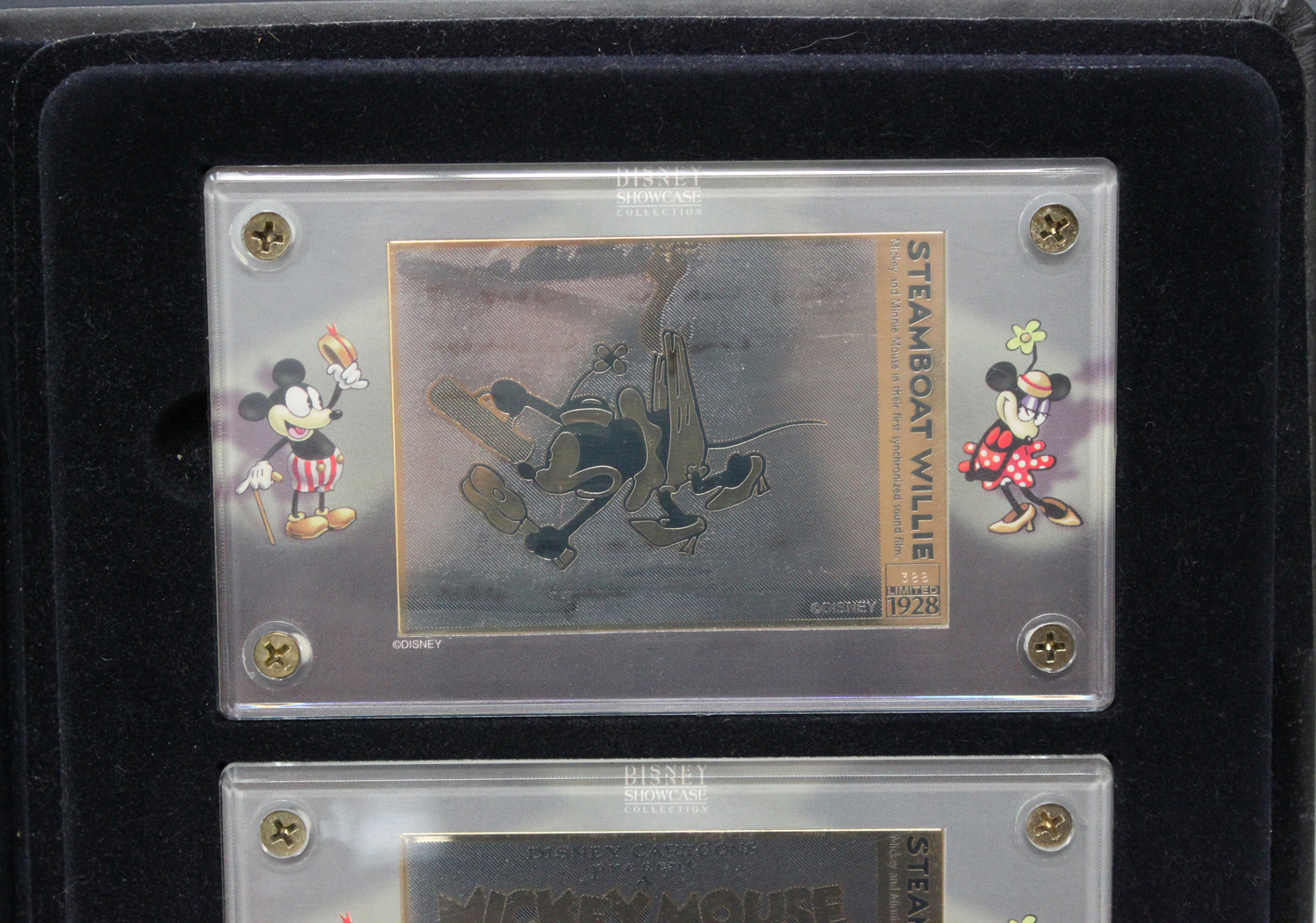 A set of three limited edition Walt Disney's Mickey Mouse in Steamboat Willie '24K gold' plated - Image 4 of 4