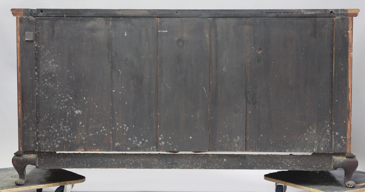 A late Victorian walnut sideboard with carved decoration, fitted with drawers and cupboards, - Image 2 of 4