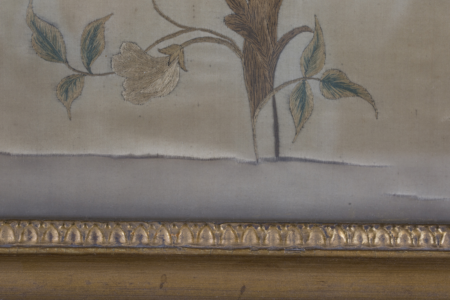 A near pair of late 19th century Japanese silk and metal thread stumpwork panels, both depicting - Image 5 of 31