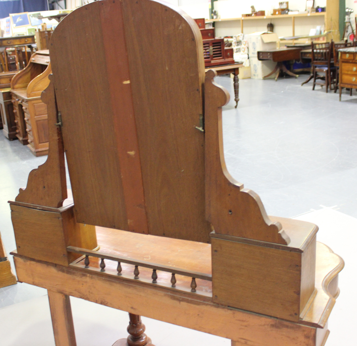 A late Victorian mahogany Duchess dressing table, the swing frame mirror above drawers, height - Image 2 of 4