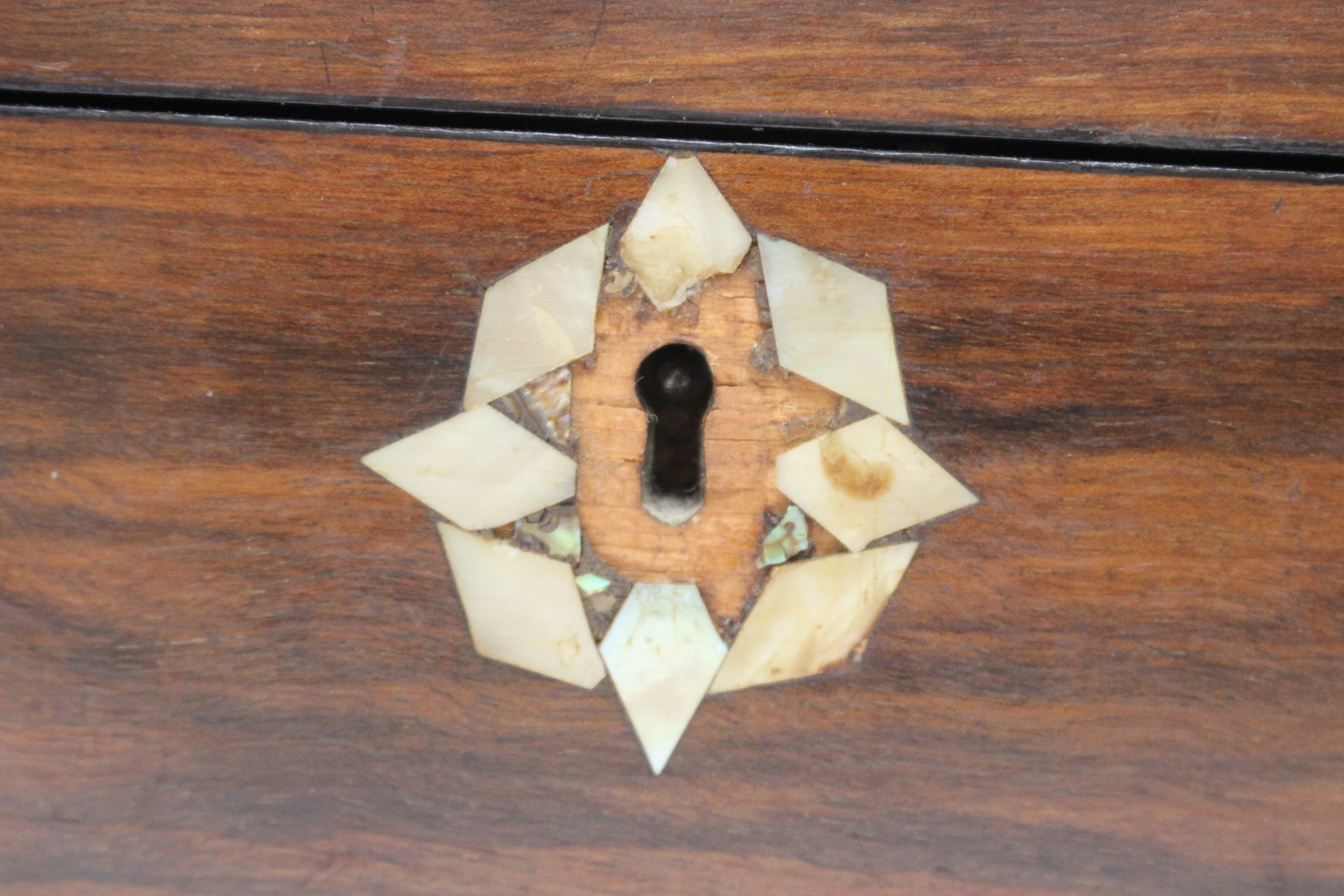 A late Victorian walnut writing slope inlaid with geometric bands, width 35cm.Buyer's Premium 29. - Image 2 of 8