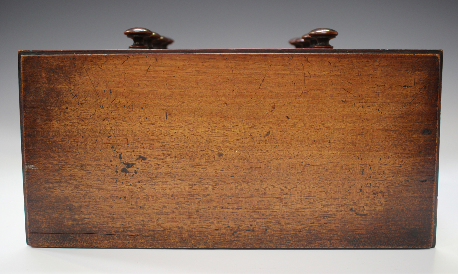 An early Victorian mahogany table-top apprentice chest of drawers, height 26cm, width 27cm.Buyer's - Image 4 of 8