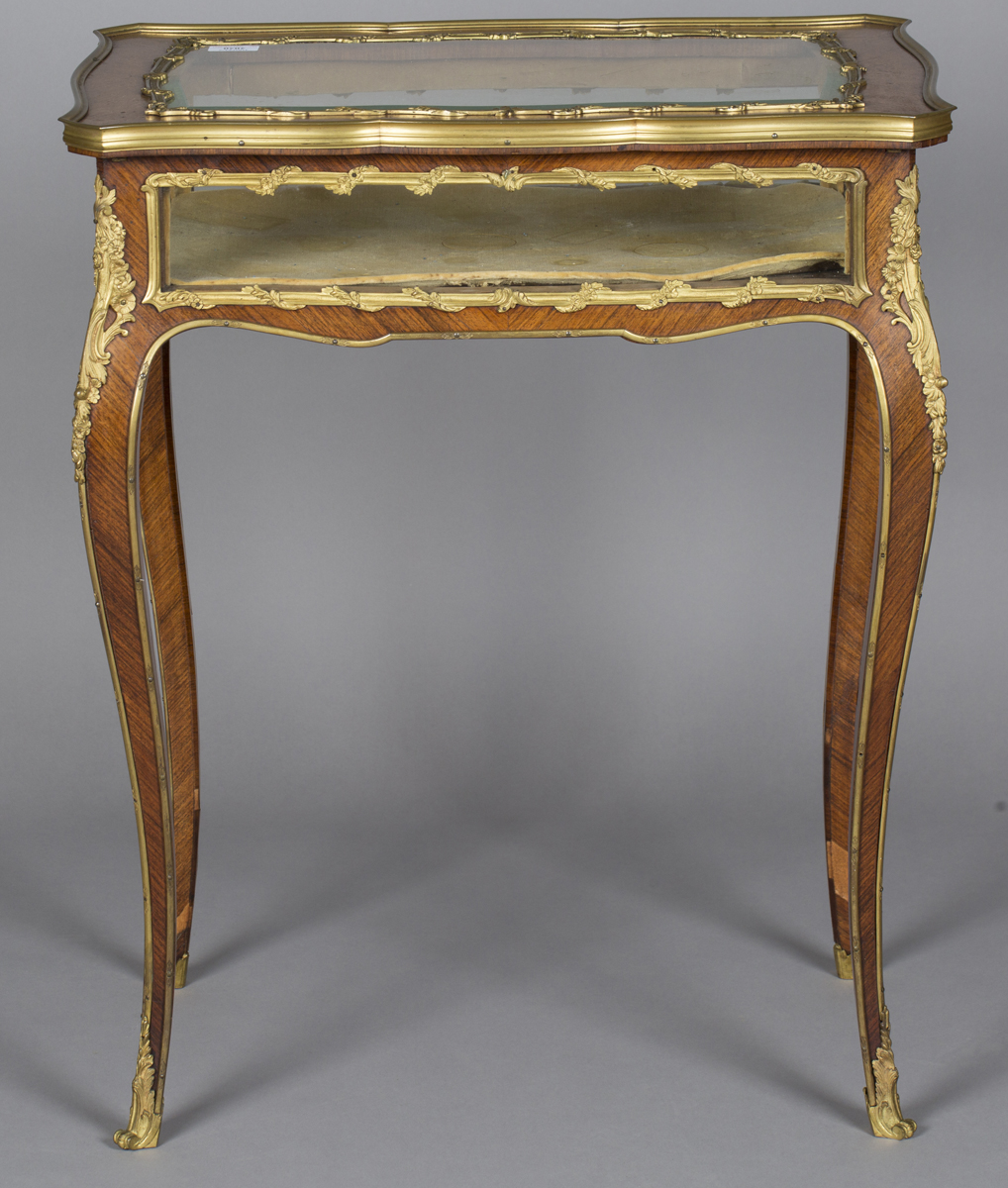 A good late 19th century Louis XV style kingwood bijouterie table with applied ormolu mounts, the - Image 4 of 9