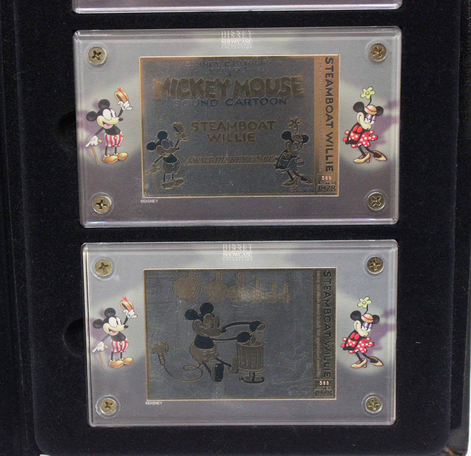 A set of three limited edition Walt Disney's Mickey Mouse in Steamboat Willie '24K gold' plated - Image 3 of 4