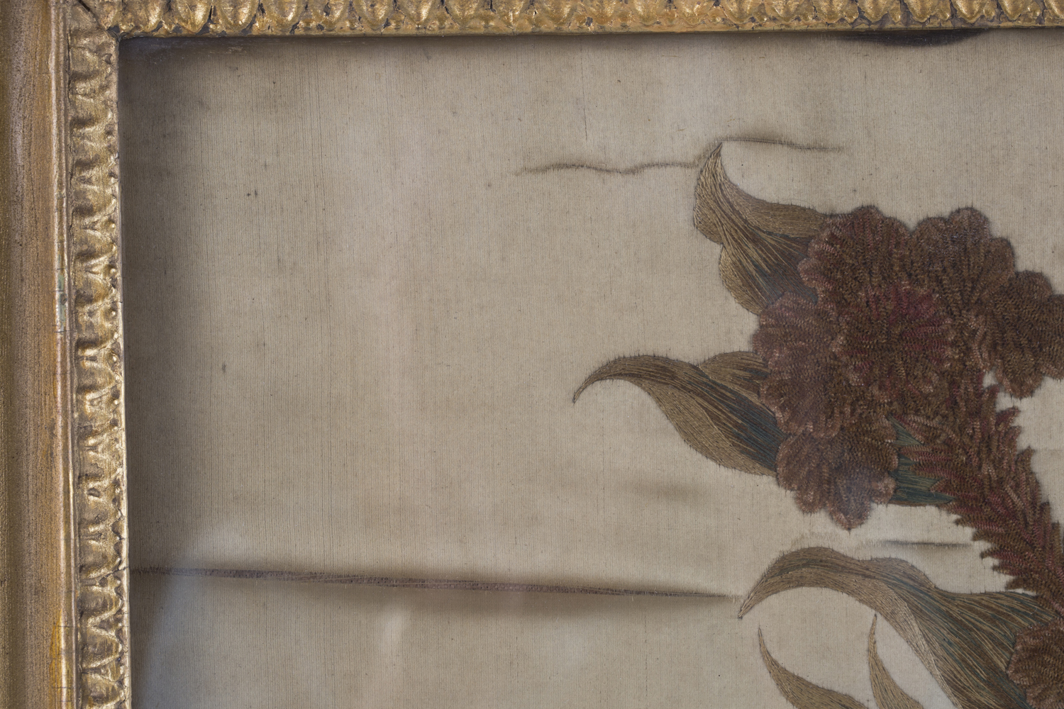 A near pair of late 19th century Japanese silk and metal thread stumpwork panels, both depicting - Image 7 of 31