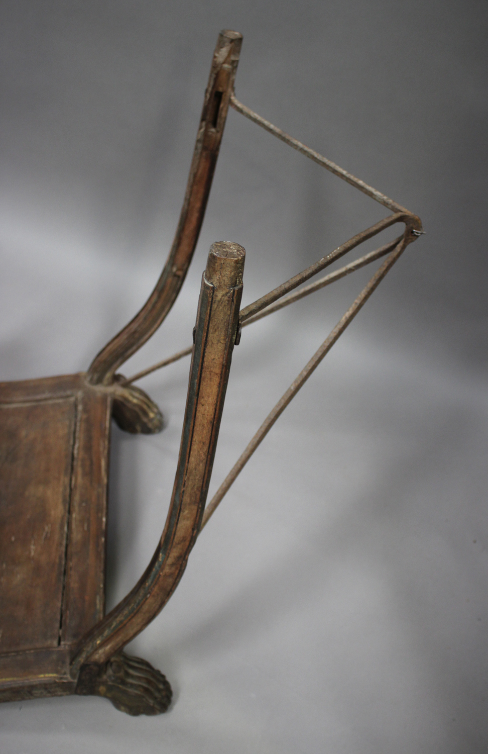 A late 19th/early 20th century Indian hardwood elephant howdah, height 70cm, length 110cm (some - Image 5 of 6