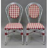 A set of ten French aluminium framed café chairs, height 88cm, width 42cm.Buyer's Premium 29.4% (