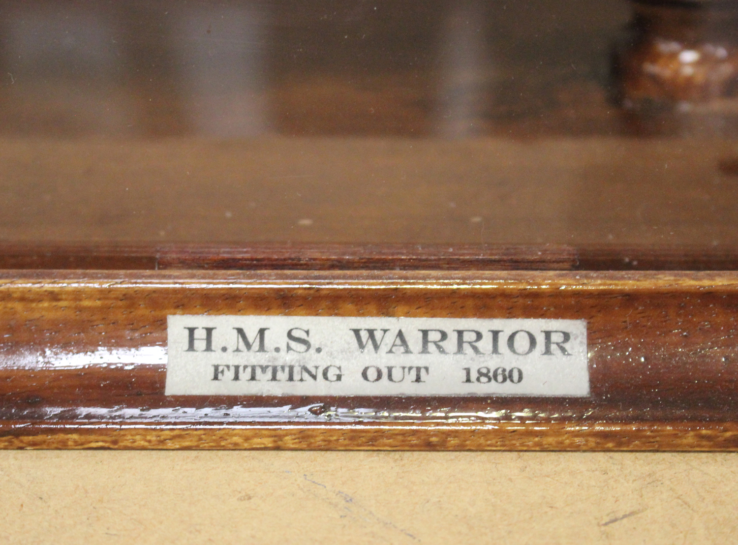 A modern 1:192 scale model of HMS Warrior, length 80cm, within a case.Buyer's Premium 29.4% ( - Image 2 of 3