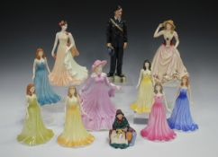 Eight Royal Doulton figures, comprising Prestige Collection limited edition Royal Air Force
