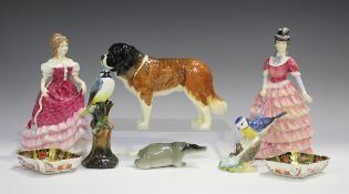 Two Royal Doulton figures, comprising Sweet Sixteen, HN3648, and Diane, HN3604, together with a pair