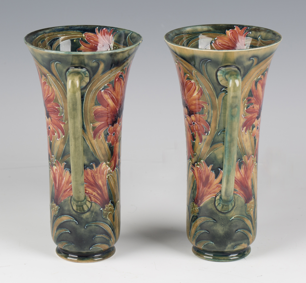 A pair of James Macintyre & Co two-handled pottery vases, circa 1910-13, designed by William - Image 9 of 9