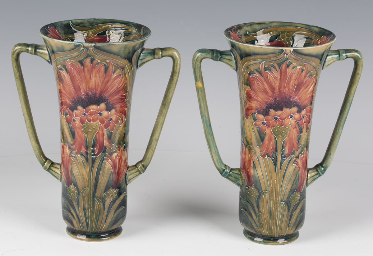 A pair of James Macintyre & Co two-handled pottery vases, circa 1910-13, designed by William - Image 8 of 9