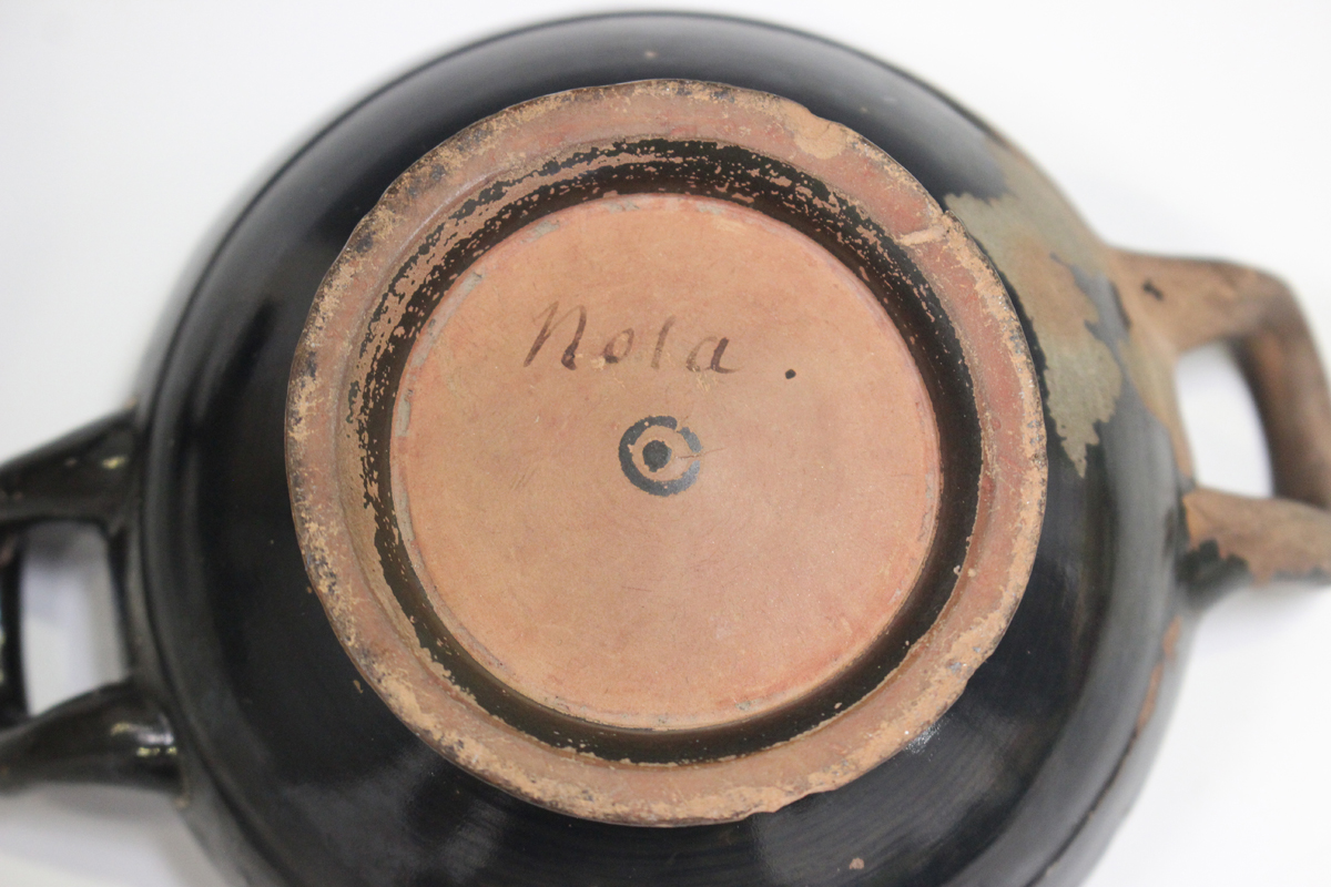 Six items of Attic style Grand Tour redware pottery, probably 19th century, including an askos in - Image 2 of 9