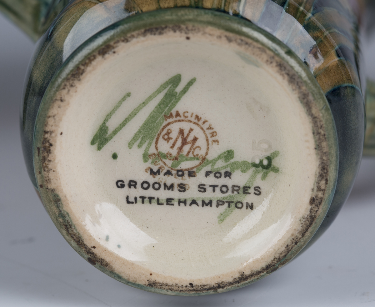 A pair of James Macintyre & Co two-handled pottery vases, circa 1910-13, designed by William - Image 5 of 9