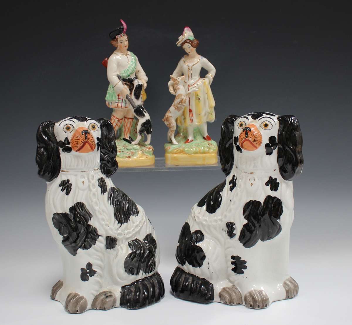 A small group of pottery and porcelain, late 19th and 20th century, including a pair of - Image 11 of 11