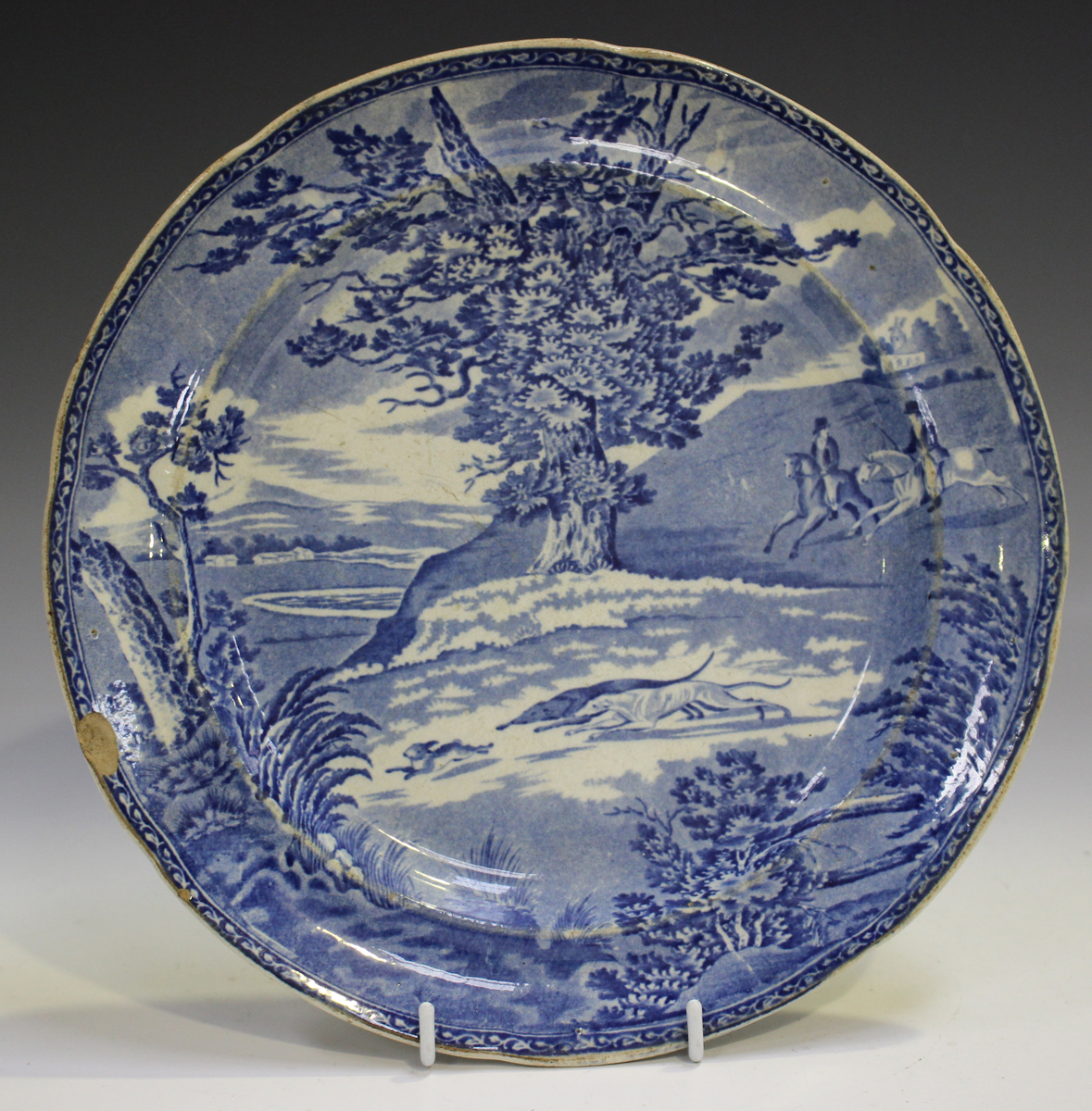 Two Rogers pearlware blue printed plates, circa 1820, in the Elephant and Zebra patterns, diameter - Image 2 of 7