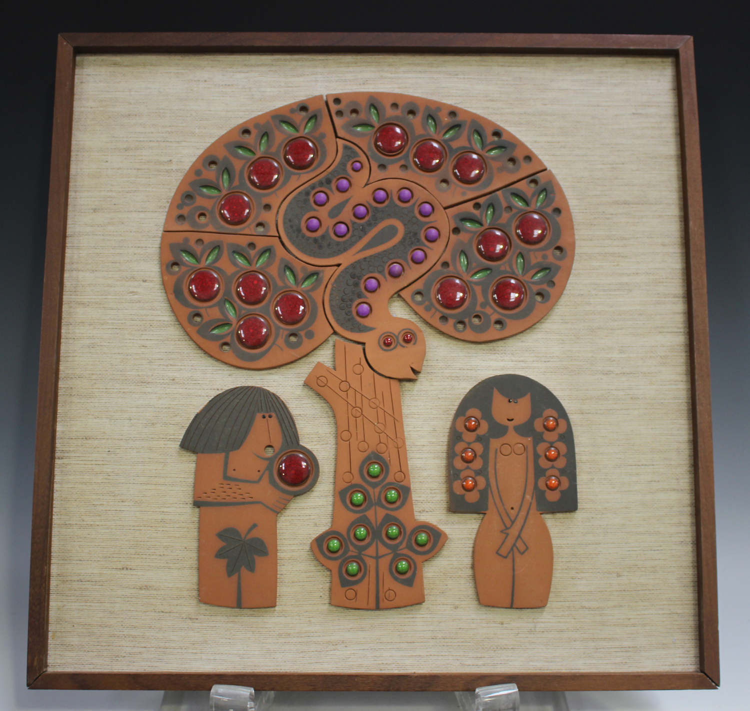 Two Hornsea Muramic wall plaques, circa 1960/70s, designed by John Clappison, depicting Adam and Eve - Image 4 of 4