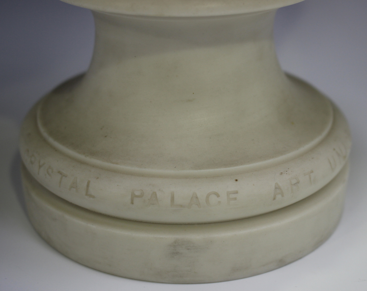 Two Copeland Parian Crystal Palace Art Union busts, second half 19th century, the first depicting - Image 12 of 14