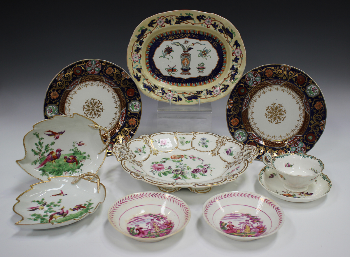 A mixed group of decorative ceramics, 19th century and later, including a Sunderland lustre - Image 3 of 3