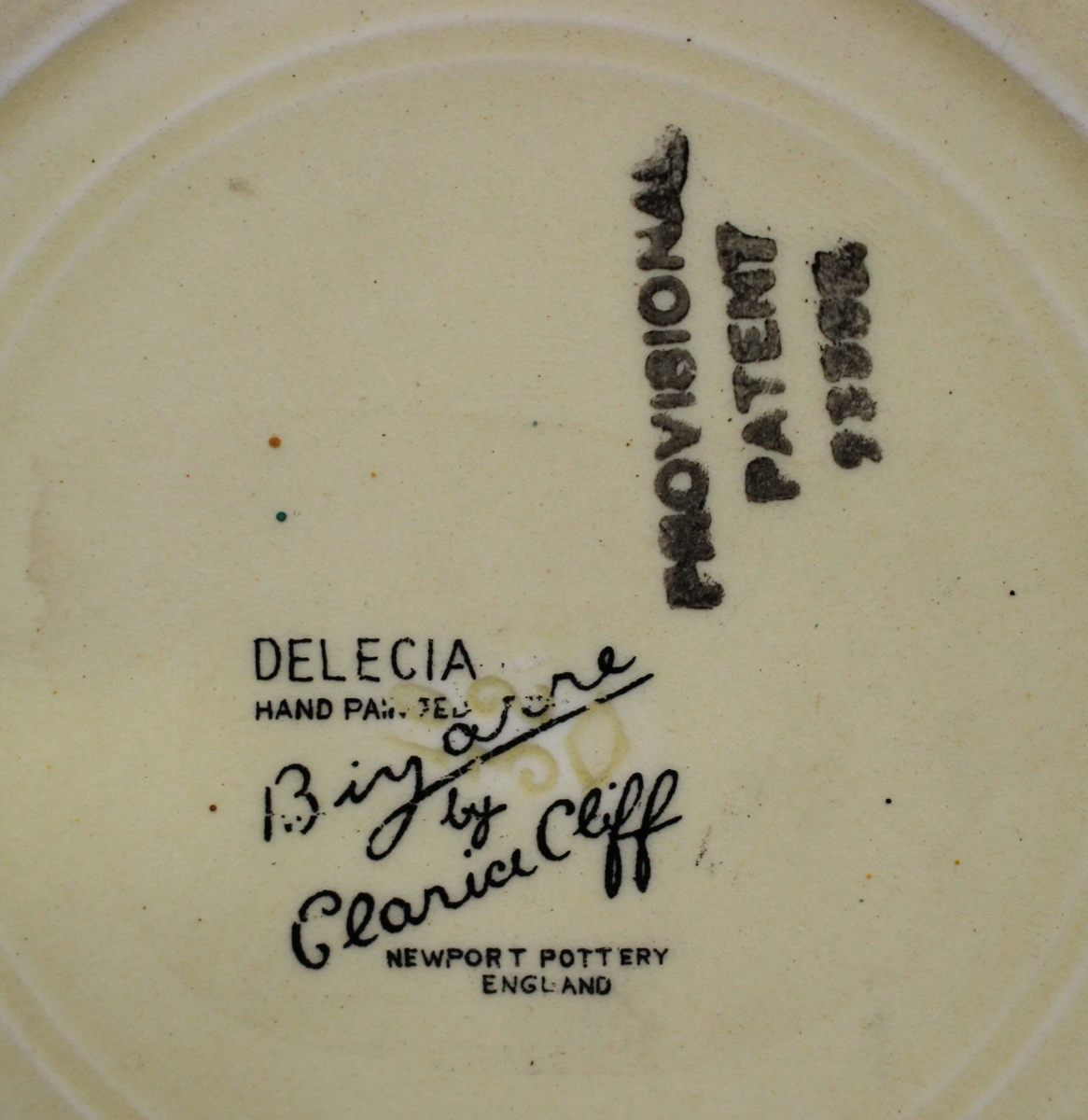 Two Clarice Cliff Bizarre Gayday pattern plates, diameter 17.6cm, a Clarice Cliff Delicia Citrus - Image 3 of 3