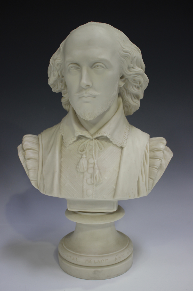 Two Copeland Parian Crystal Palace Art Union busts, second half 19th century, the first depicting - Image 14 of 14