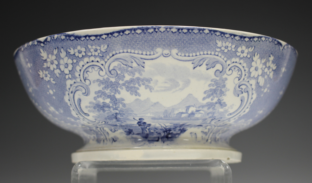 A mixed group of blue printed Staffordshire pottery, 19th century, including a Nuneham Courtenay ( - Image 4 of 5