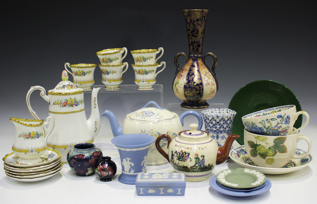 A mixed group of ceramics, mostly tablewares, late 19th/20th century, including a Paragon part