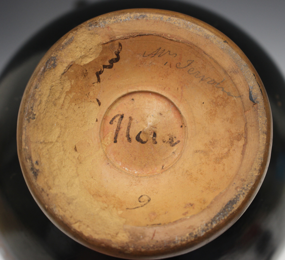 Six items of Attic style Grand Tour redware pottery, probably 19th century, including an askos in - Image 8 of 9