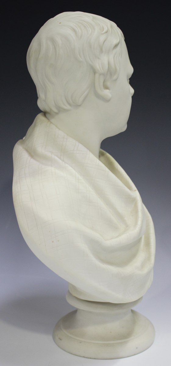 Two Copeland Parian Crystal Palace Art Union busts, second half 19th century, the first depicting - Image 2 of 14