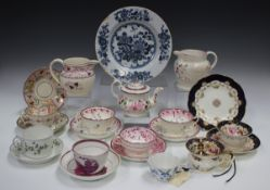 A small group of decorative ceramics, including a pearlware lustre jug, height 11cm, a Wedgwood