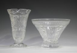A Waterford Crystal Millennium series centrepiece bowl, diameter 27.5cm, together with a Waterford