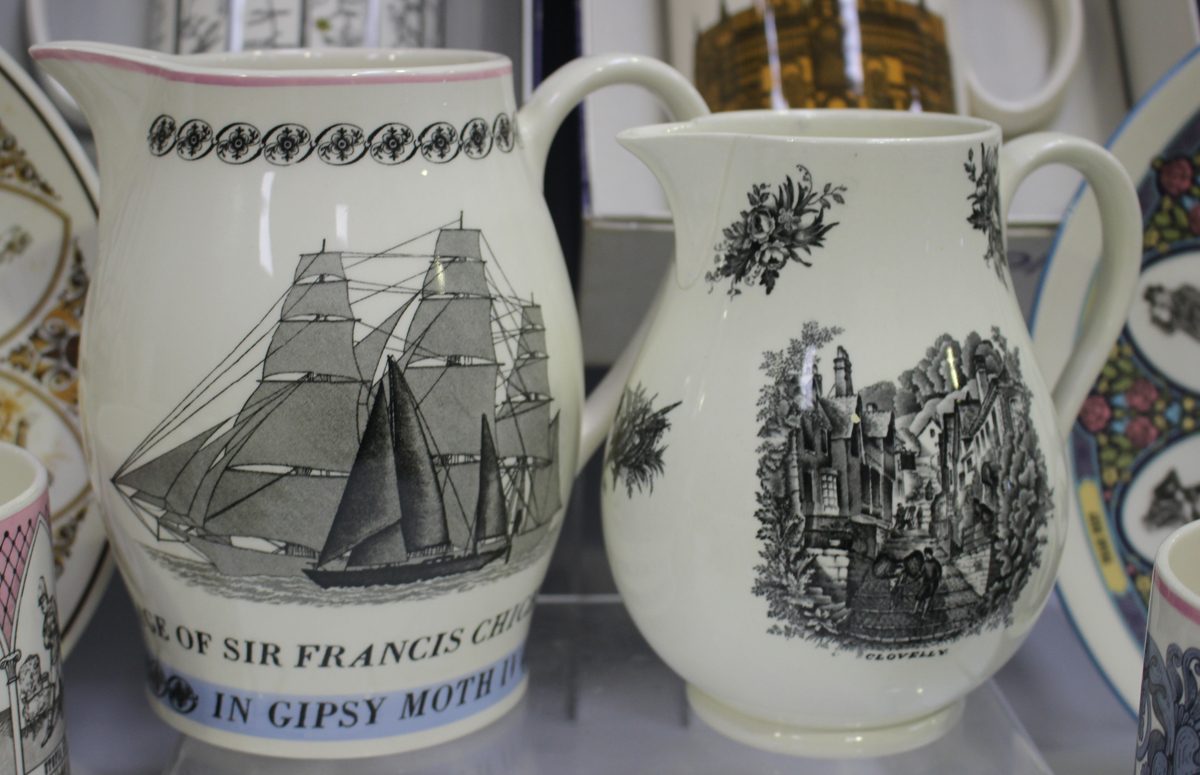 A Wedgwood commemorative jug 'Voyage of Sir Francis Chichester in Gipsy Moth IV', height 16cm, - Image 3 of 3
