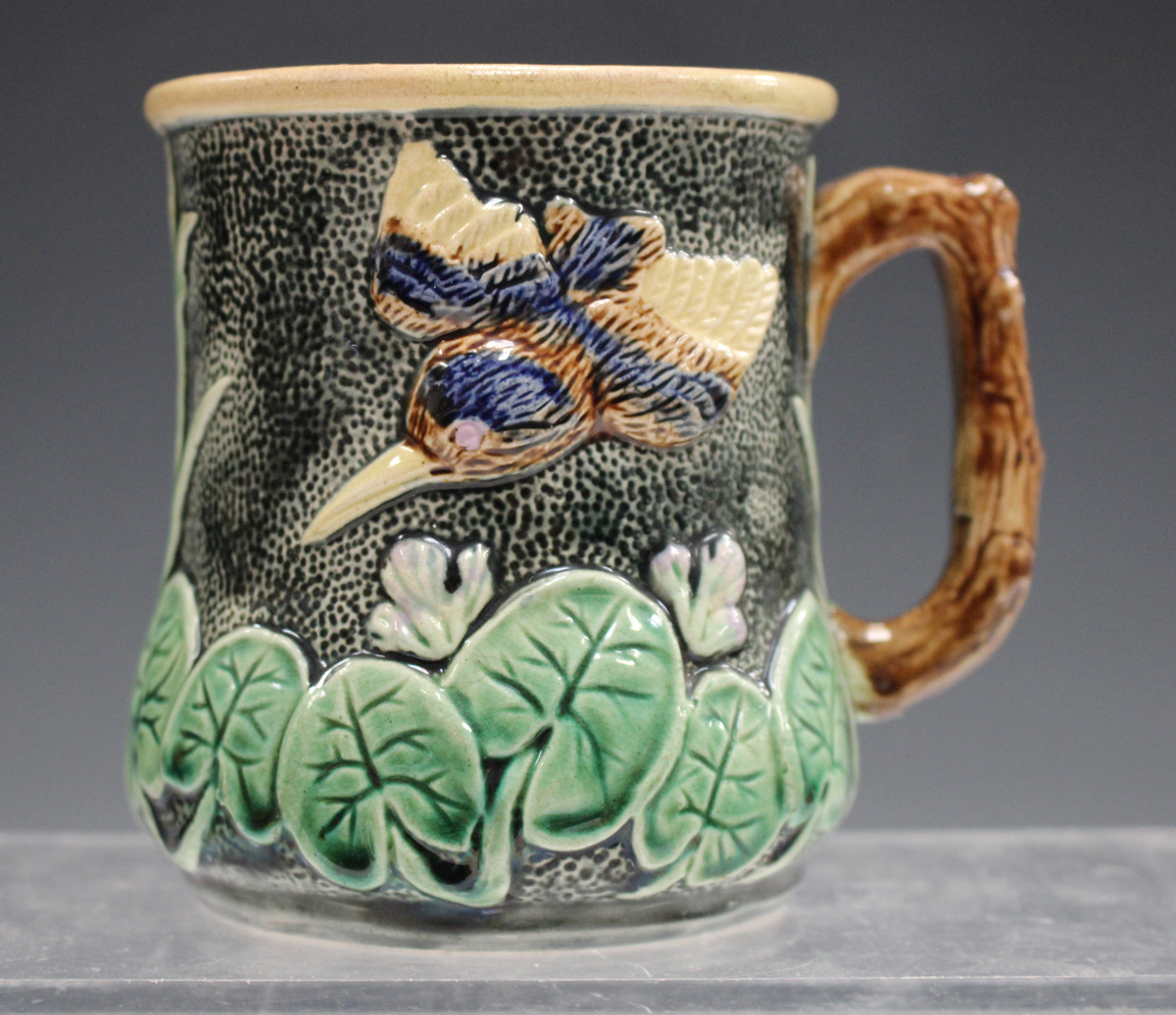 A small group of pottery and porcelain, late 19th and 20th century, including a pair of - Image 8 of 11