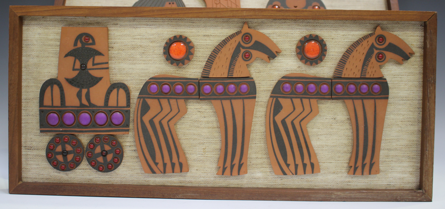 Two Hornsea Muramic wall plaques, circa 1960/70s, designed by John Clappison, depicting Adam and Eve - Image 3 of 4