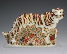 A Royal Crown Derby Imari Bengal Tiger paperweight, circa 1995, gold stopper to base, height 12cm.