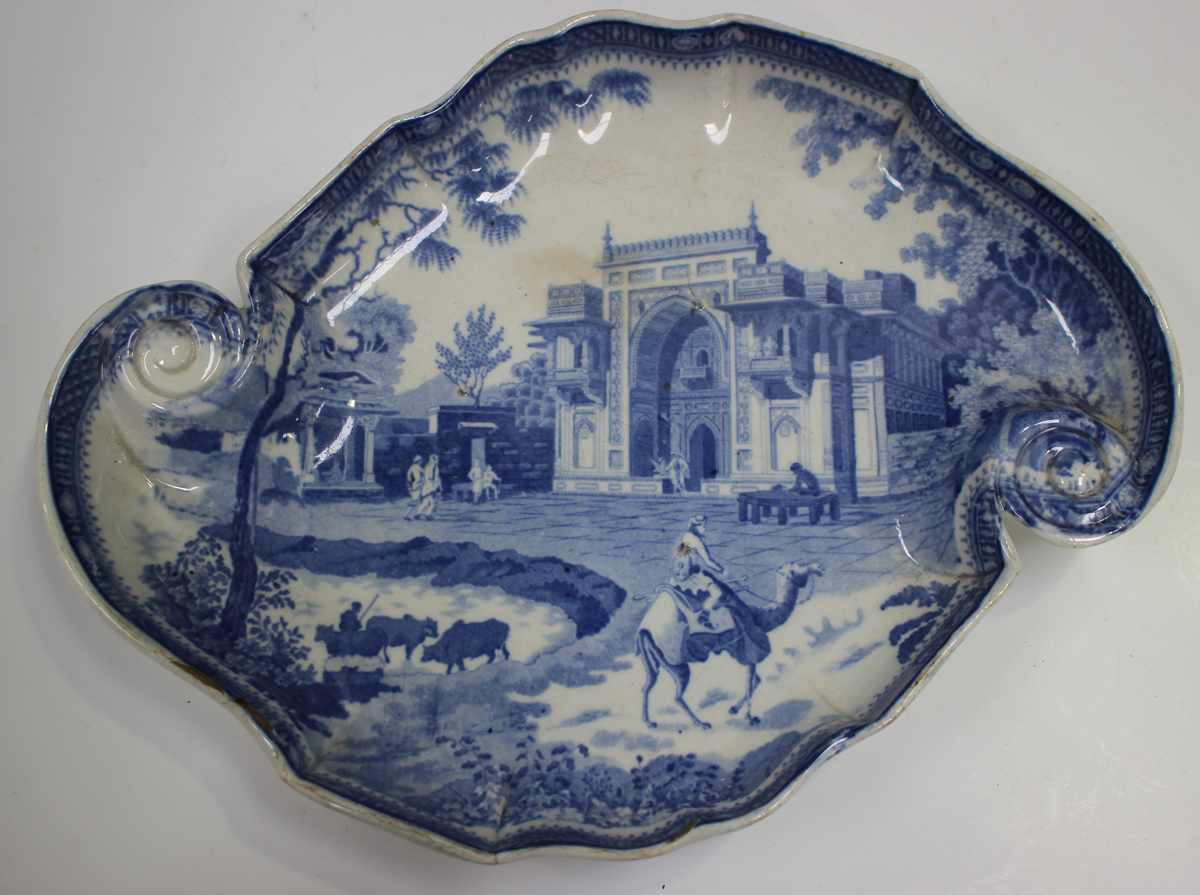 Two Rogers pearlware blue printed plates, circa 1820, in the Elephant and Zebra patterns, diameter - Image 7 of 7