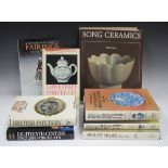 A group of reference books relating to ceramics, including 'Song Ceramics' by Mary Tregear and '