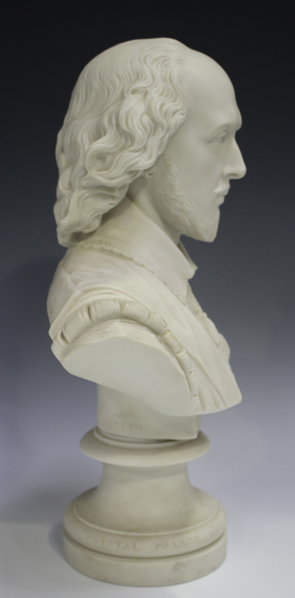 Two Copeland Parian Crystal Palace Art Union busts, second half 19th century, the first depicting - Image 9 of 14