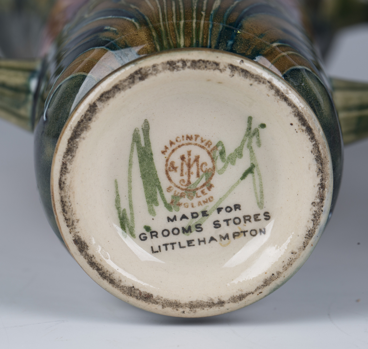 A pair of James Macintyre & Co two-handled pottery vases, circa 1910-13, designed by William - Image 6 of 9