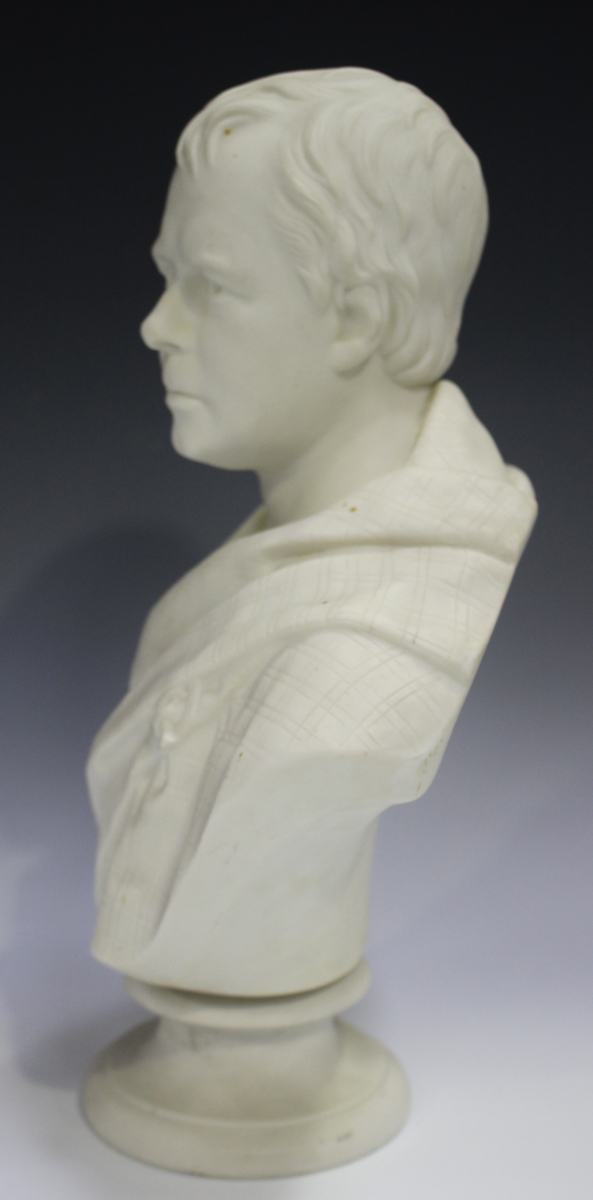 Two Copeland Parian Crystal Palace Art Union busts, second half 19th century, the first depicting - Image 3 of 14