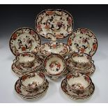 A group of Mason's Ironstone Mandalay pattern tablewares, 20th century, including a two-handled