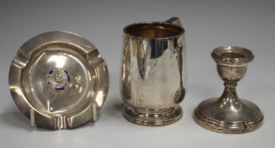 A George V silver christening cup, Birmingham 1929 by Horton & Allday, weight 112g, height 8cm, a