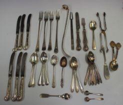 A George V Britannia standard silver pickle fork, London 1930 by Wakely & Wheeler, length 17.3cm,