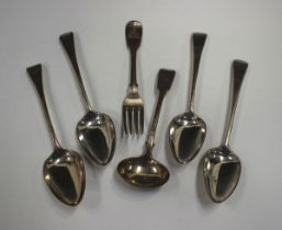 Three George III silver Old English pattern tablespoons, London 1803 by Thomas Wallis II, together