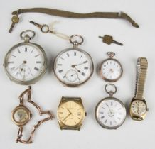 A 9ct gold octagonal cased lady's wristwatch, import mark London 1921, on a gold sprung bar link