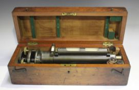 A late 19th century oxidized brass surveyor's level by Troughton & Simms of London, the telescope