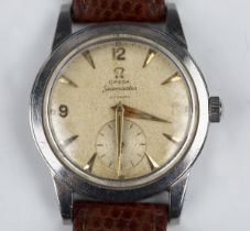 An Omega Seamaster Automatic steel cased gentleman's wristwatch, circa 1950, the signed movement