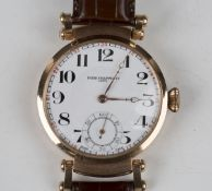 A Patek Philippe & Co pocket watch movement and dial, the jewelled gilt movement detailed 'Patek
